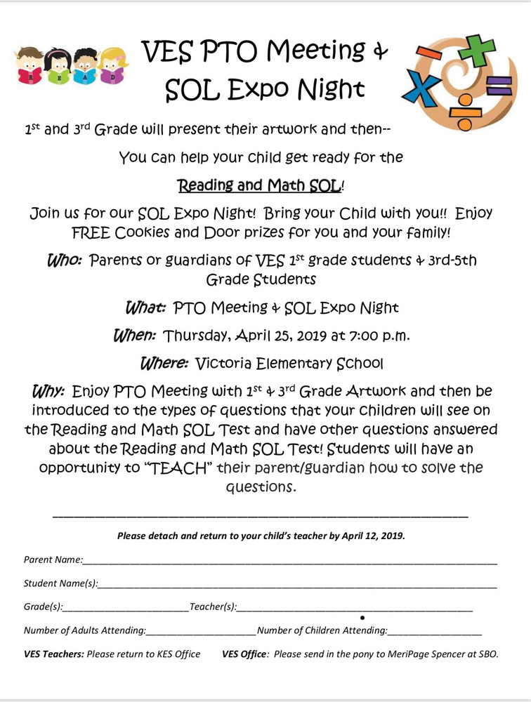 VES PTO Meeting & SOL Expo Night