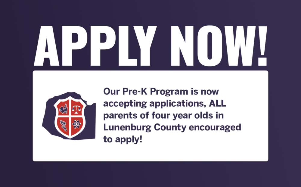 PRE K APPLICATIONS ARE DUE NOW!!