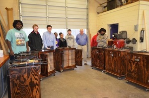 CHS Building Trades Class Makes Cabinets to House Laptops