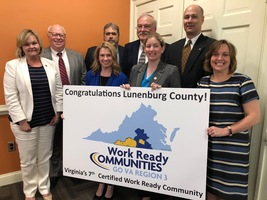 Lunenburg County is 7th in the State of Virginia to become a Certified Work Ready Community