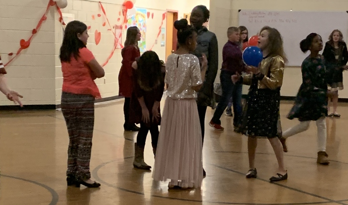 VES students socialize at the dance