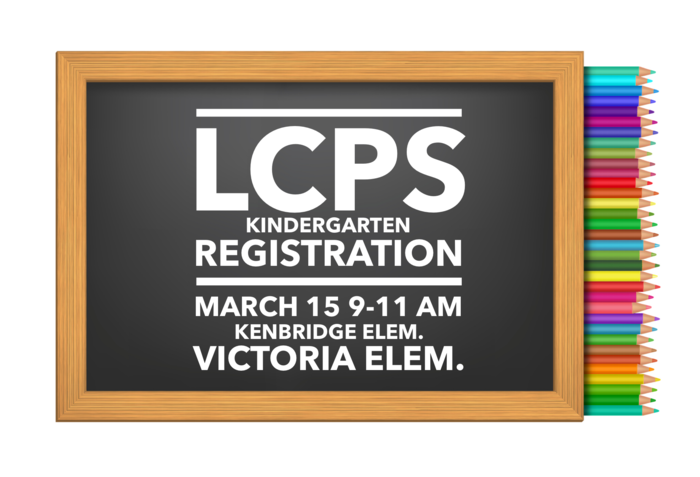 LCPS Kindergarten Registration is March 15, 2019 9-11 a.m.