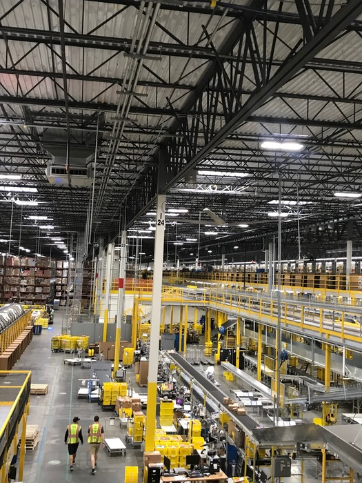 Floor of the Amazon Fulfillment Center