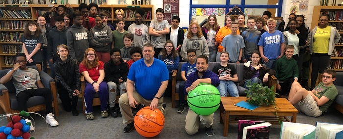 LCPS March Madness Attendance Challenge Champions Bailey & Ellis's First Period at LMS