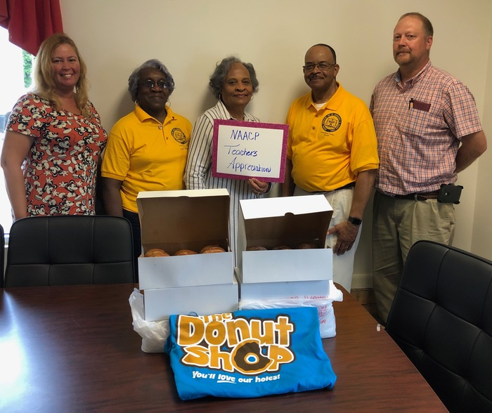Lunenburg NAACP recognizes bus drivers with donuts for Teacher Appreciation Week