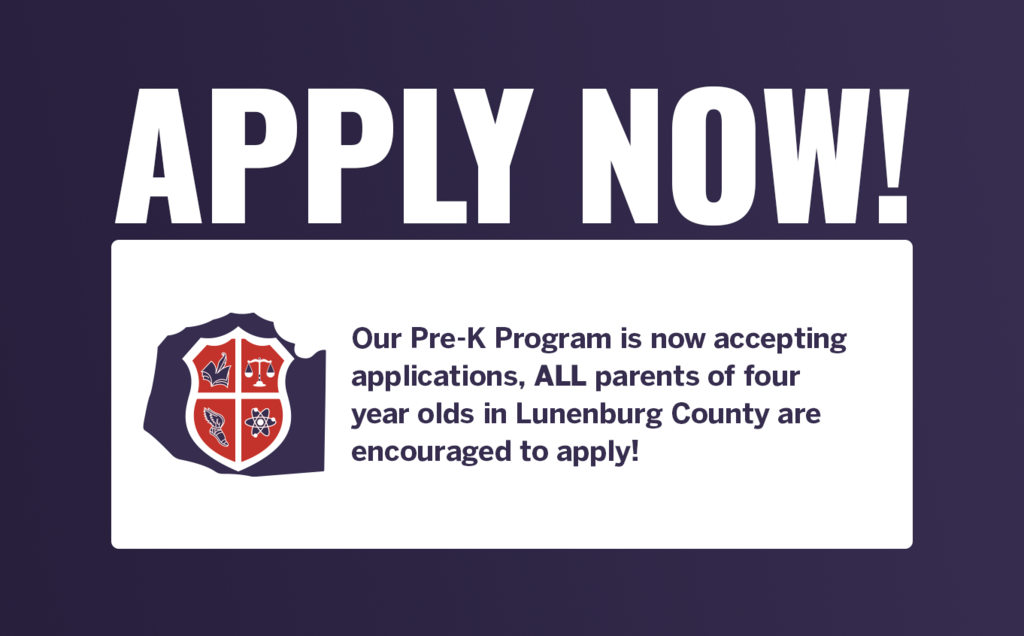 Pre K Applications are being accepted now!