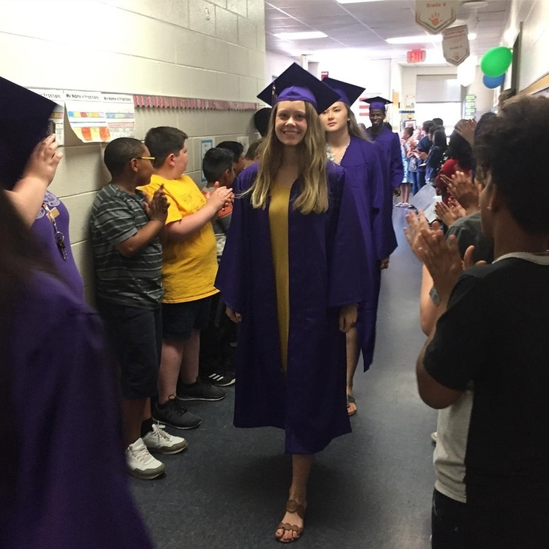 Graduates walk the halls at KES